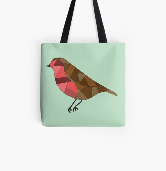 British Bird - Robin Red Breast All Over Print Tote Bag