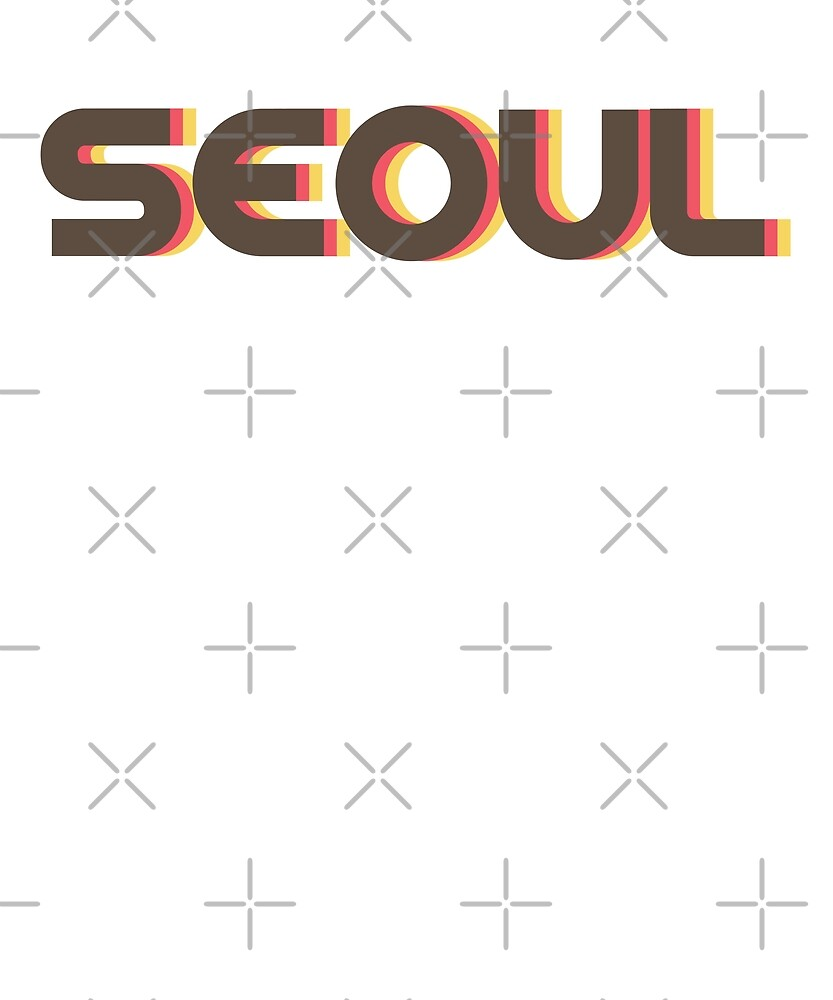Retro Seoul T-Shirt by designkitsch