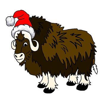 Christmas Santa Muskox by imphavok