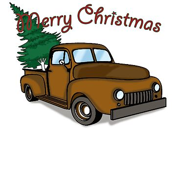 Merry Christmas Classic Car T-Shirt by RadTechdesigns