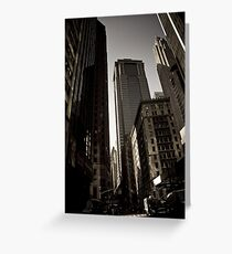 Crosswalk - Financial Square Greeting Card