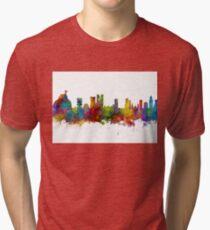 Rio de Janeiro Skyline Brazil Tri-blend T-Shirt