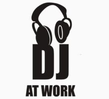 Dj At Work - Headphones Kids Tee