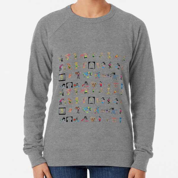#Cartoon #text #technology #collection #pattern #decoration #design #symbol #paper #illustration #vector #art #typescript #inarow #groupofobject Lightweight Sweatshirt