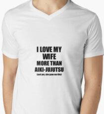 Aiki-Jujutsu Husband Funny Valentine Gift Idea For My Hubby Lover From Wife Men's V-Neck T-Shirt