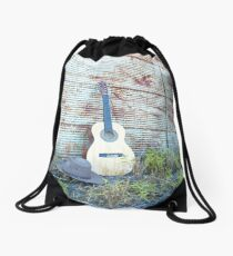 """My Guitar & Hat...... Drawstring Bag"