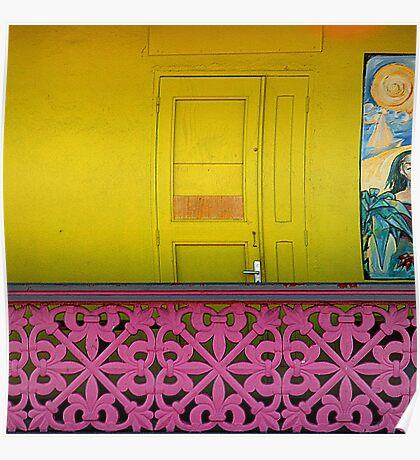 Door, Railing, St. Barts Poster