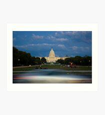 Passing the U.S. Capitol Art Print