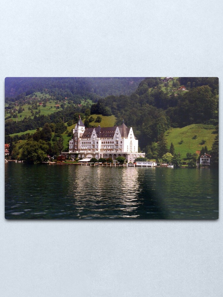 The Park Hotel Vitznau Lake Lucerne Metal Print By Sstarlightss Redbubble