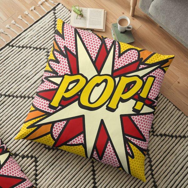 design pop art rétro cool et tendance de bande dessinée qui met le wham Coussin de sol