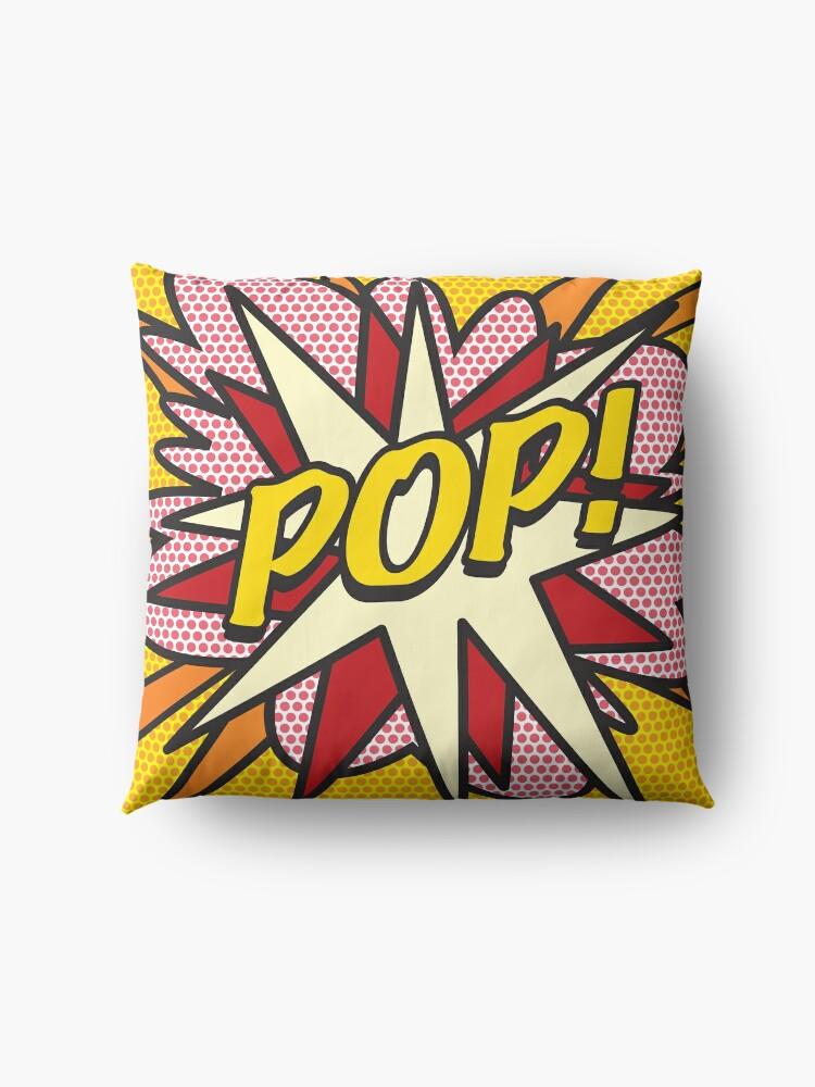 Alternate view of POP Comic Book Pop Art Cool Retro Trendy Floor Pillow