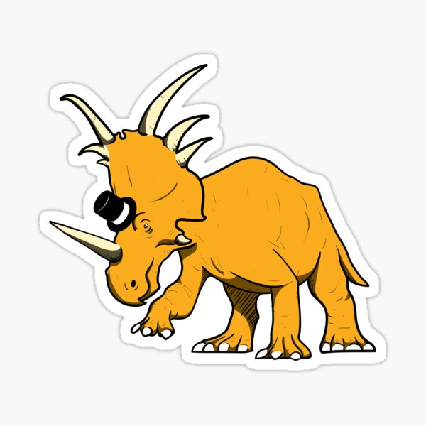 Styracosaurus with top hat Sticker