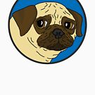 Pug - Blue Spot by emo-seal