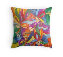 Nymphs' World Throw Pillow