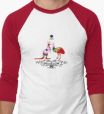 Rainbow Pride Oz Men's Baseball ¾ T-Shirt