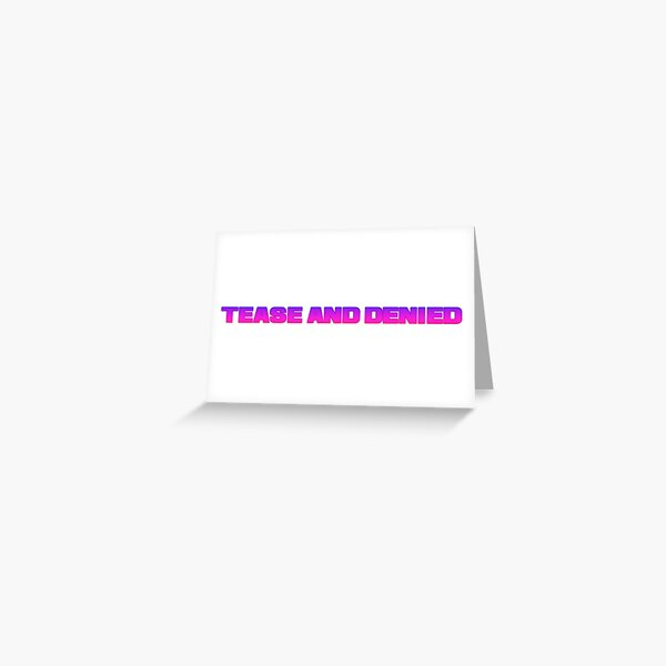 Tease and denied femdom cuckold Greeting Card