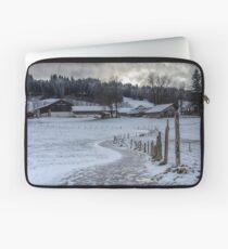 Bavarian Farm in Winter Laptop Sleeve