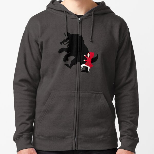 Little Red Zipped Hoodie