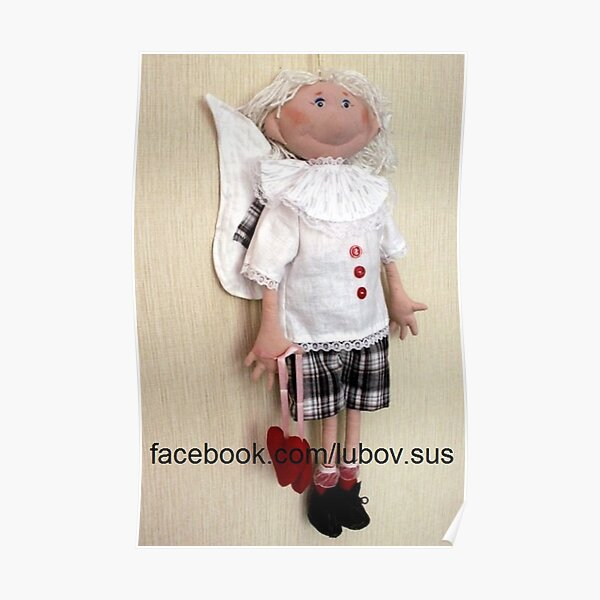 #doll #design #child #innocence #cute #baby #winter #portrait #happiness #christmas #cheerful #toddler #fun #vertical #clothing #small  Poster