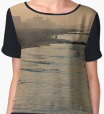 #water #beach #sunset #sea #landscape #reflection #dusk #sand #seascape #lake #horizontal #watersedge #nopeople #sunrisedawn #sun #sunny Chiffon Top
