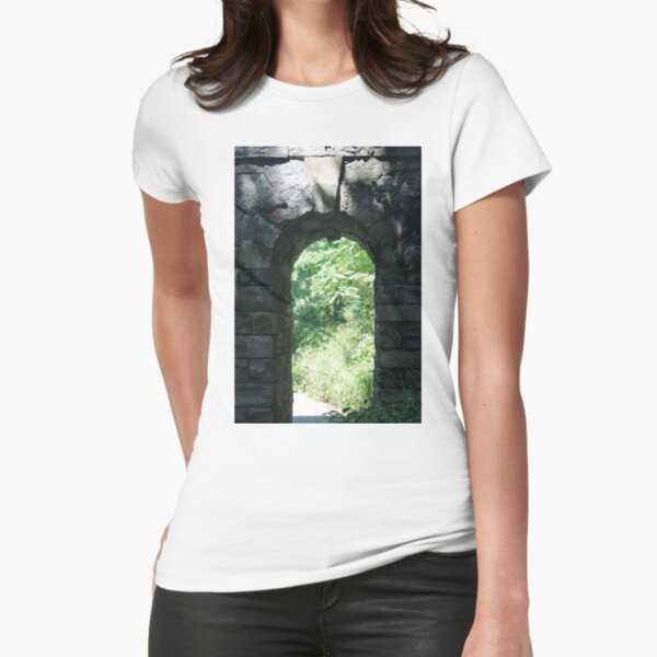 #Arch #tree #old #ancient #architecture #outdoors #wood #brick #vertical #archarchitecturalfeature #oldruin #ruined #nopeople #stonematerial #wallbuildingfeature #builtstructure #buildingexterior #day Fitted T-Shirt