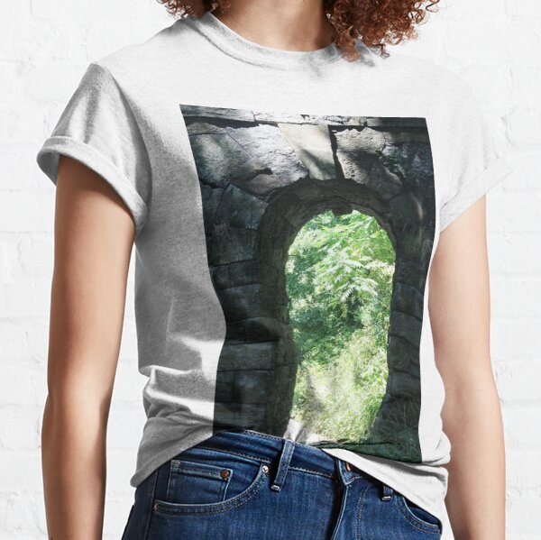 #Arch #tree #old #ancient #architecture #outdoors #wood #brick #vertical #archarchitecturalfeature #oldruin #ruined #nopeople #stonematerial #wallbuildingfeature #builtstructure #buildingexterior #day Classic T-Shirt