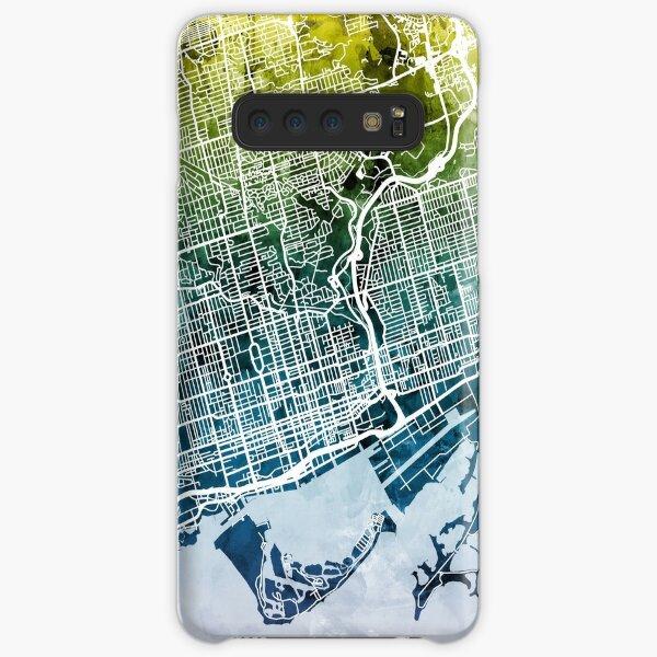 Toronto Straßenkarte Samsung Galaxy Leichte Hülle