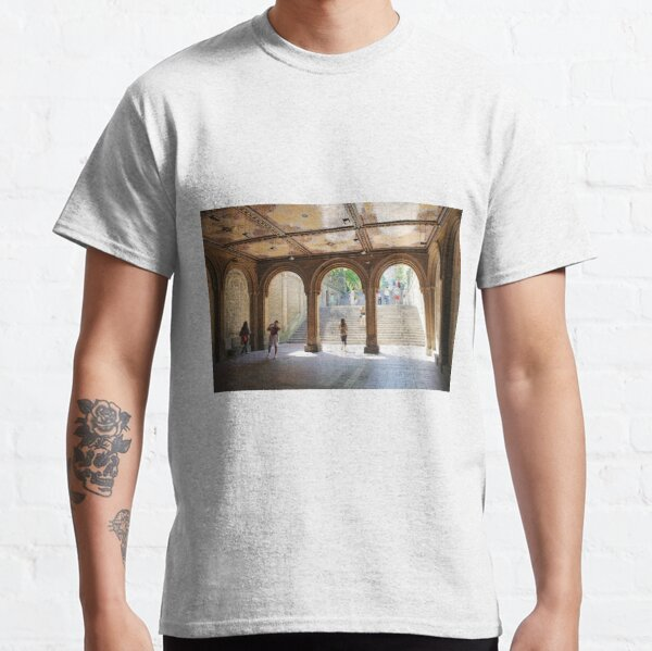 #Arch #architecture #city #museum #church #religion #arcade #courtyard #ceiling #indoors #horizontal #nopeople #builtstructure #archarchitecturalfeature #day #architecturalcolumn #corridor Classic T-Shirt