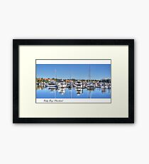 """Raby Reflections"", Raby Bay, Cleveland, Australia Framed Print"
