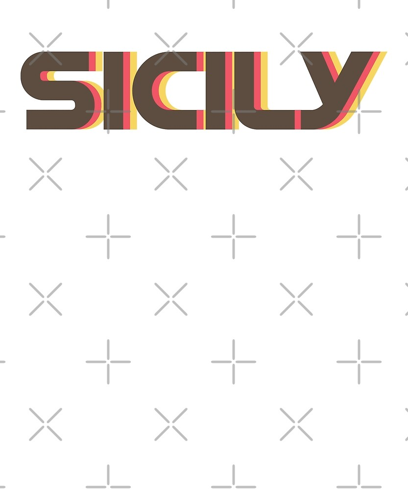 Retro Sicily T-Shirt by designkitsch