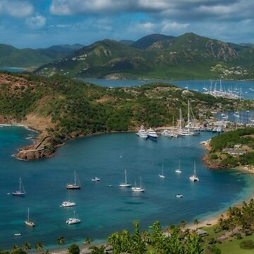 Boats, Beaches and Mountains, Antigua by gerdagrice