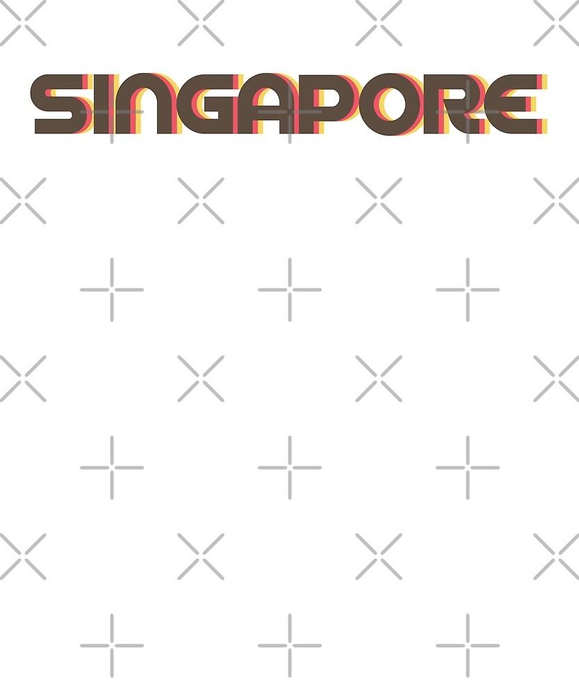 Retro Singapore City T-Shirt by designkitsch