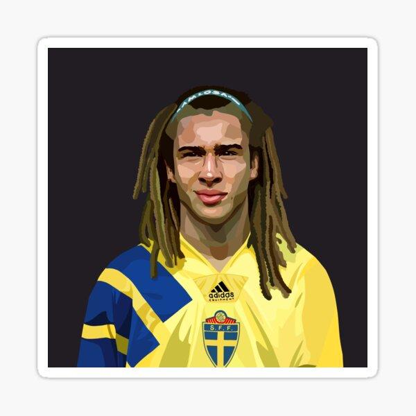 Henrik Larsson Portrait Sticker