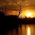 Mildura sunset by Lydia Griffiths