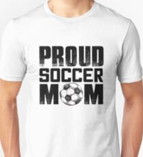 PROUD SOCCER MOM Slim Fit T-Shirt