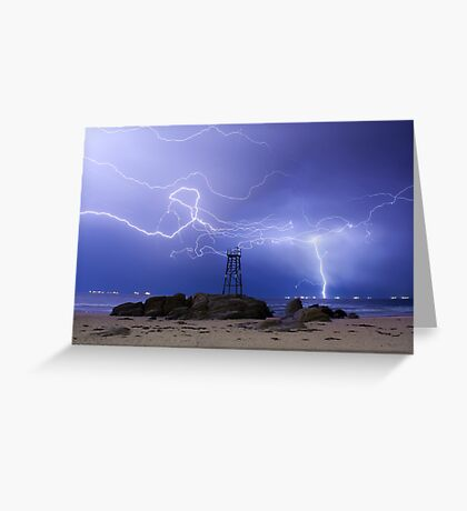 Lightning At Redhead Greeting Card