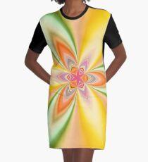 Kaleidoscope Tiny Pink Star Graphic T-Shirt Dress