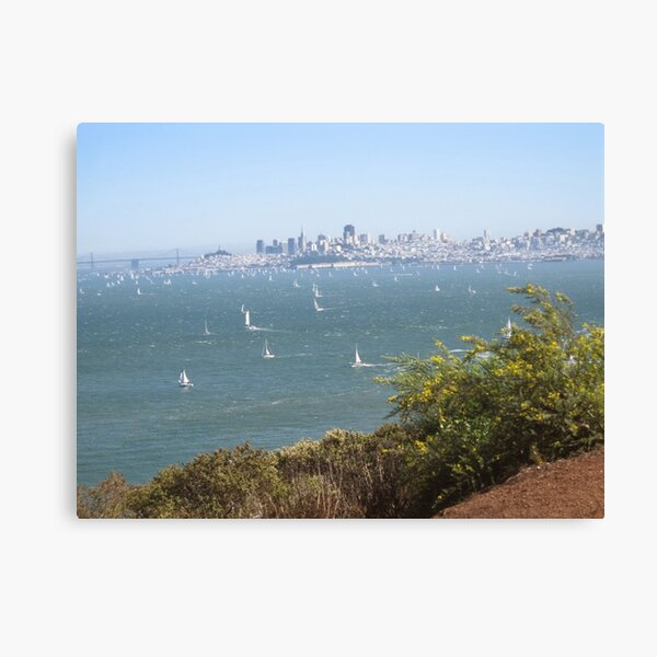 #famousplace #internationallandmark #GoldenGateBridge #SanFrancisco #California #USA #water #sea Canvas Print