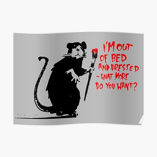 Rat Banksy Poster