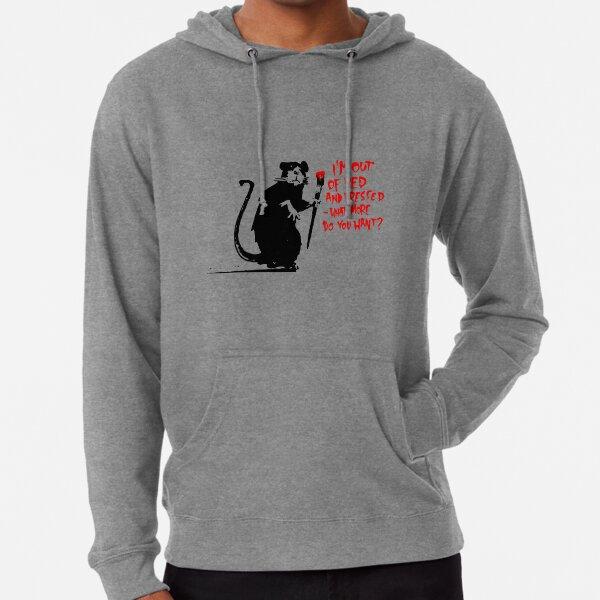 Rat Banksy Lightweight Hoodie