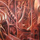 """Another section of """"Leaving Home' in close up view by Warren Haney"""