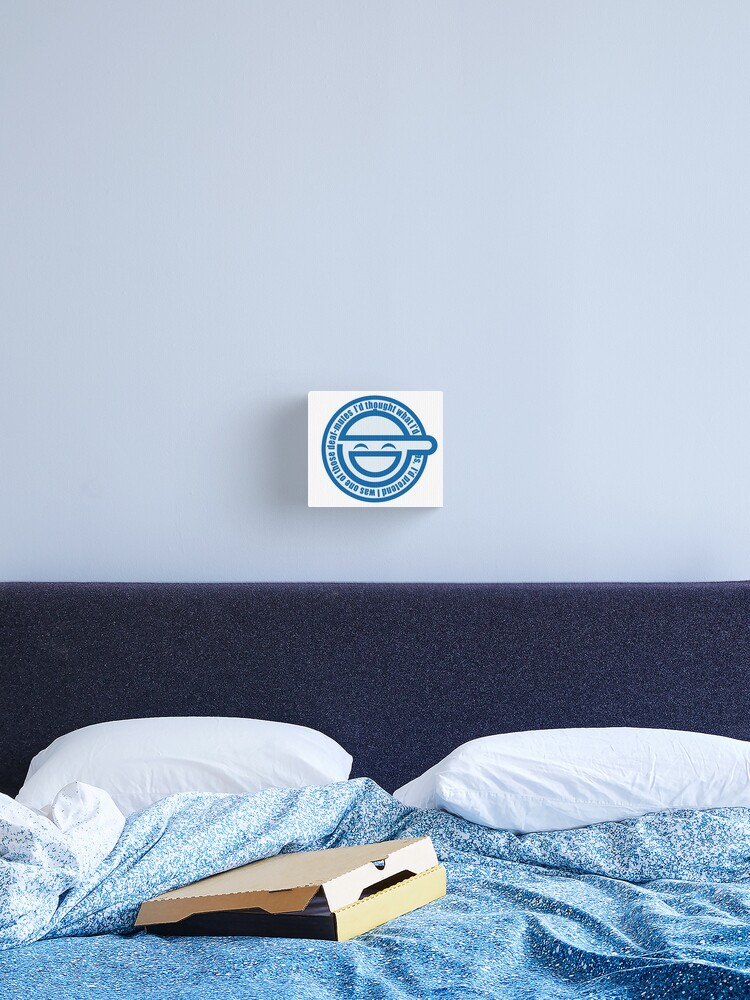 The Laughing Man Logo With Scan Lines Ghost In The Shell Stand Alone Complex Canvas Print By Yacktown Redbubble