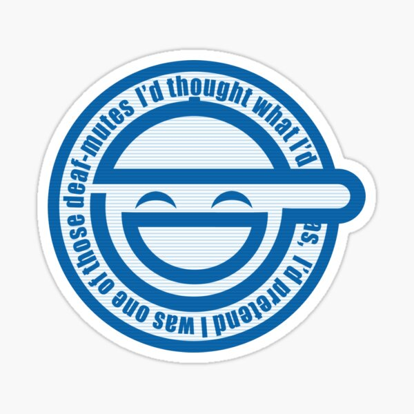 The Laughing Man logo with scan lines - Ghost In The Shell Stand Alone Complex Sticker