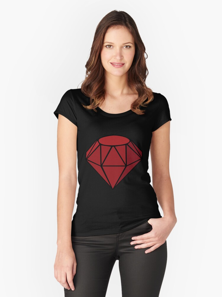 Ruby Women's Fitted Scoop T-Shirt Front