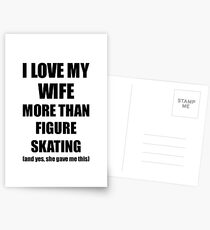 Figure Skating Husband Funny Valentine Gift Idea For My Hubby Lover From Wife Postkarten