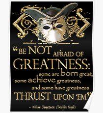 Shakespeare-zwölftes Nacht-Größen-Zitat Poster