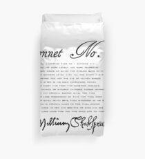 Shakespeare-Sonett Nr. 18 Bettbezug