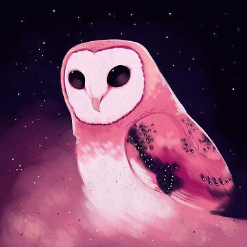 A Pink Barn Owl by Kuvolviski