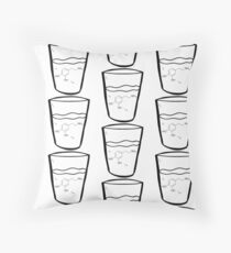 Glass of Dopamine Throw Pillow