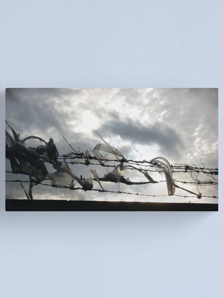 Alternate view of On the wire Canvas Print
